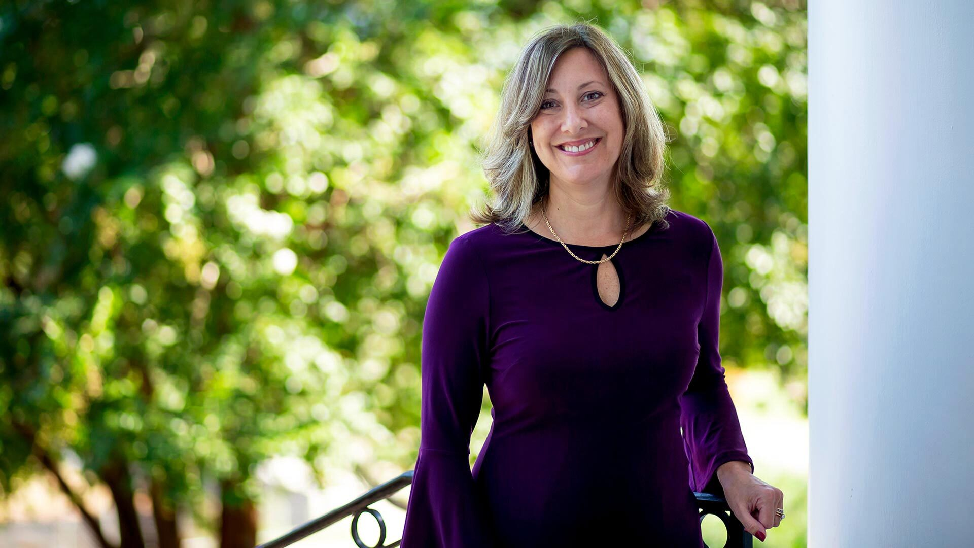 As UMD's inaugural assistant vice president and dean of students, Andrea Goodwin is helping students navigate mental health challenges, unexpected financial burdens or academic stresses.  Photo by Stephanie S. Cordle