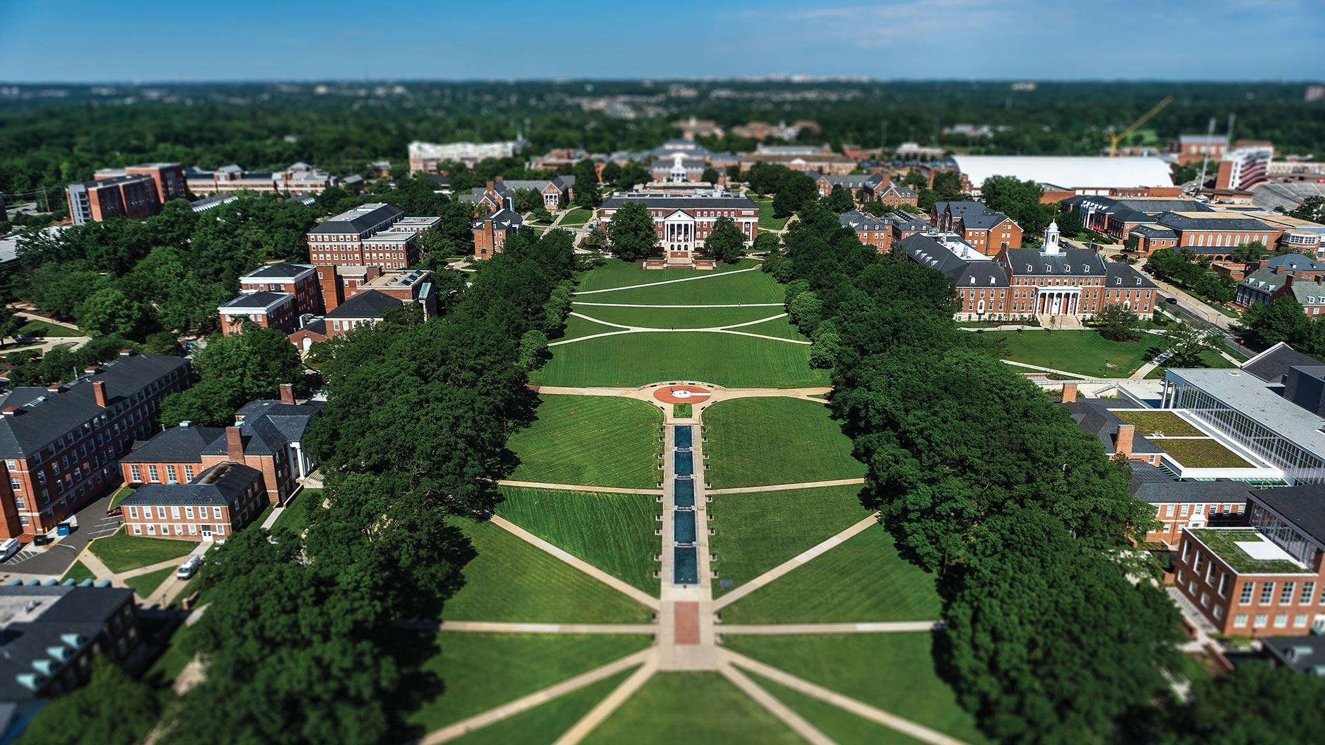 Campus Aerial of McKeldin Mall