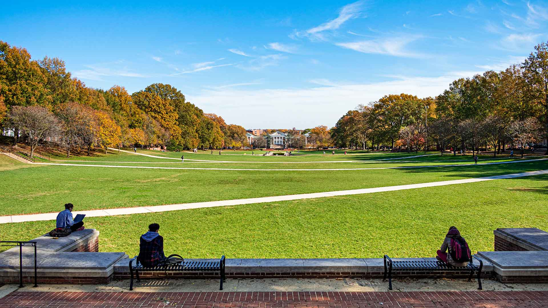 McKeldin Mall (From the view of McKeldin Library)