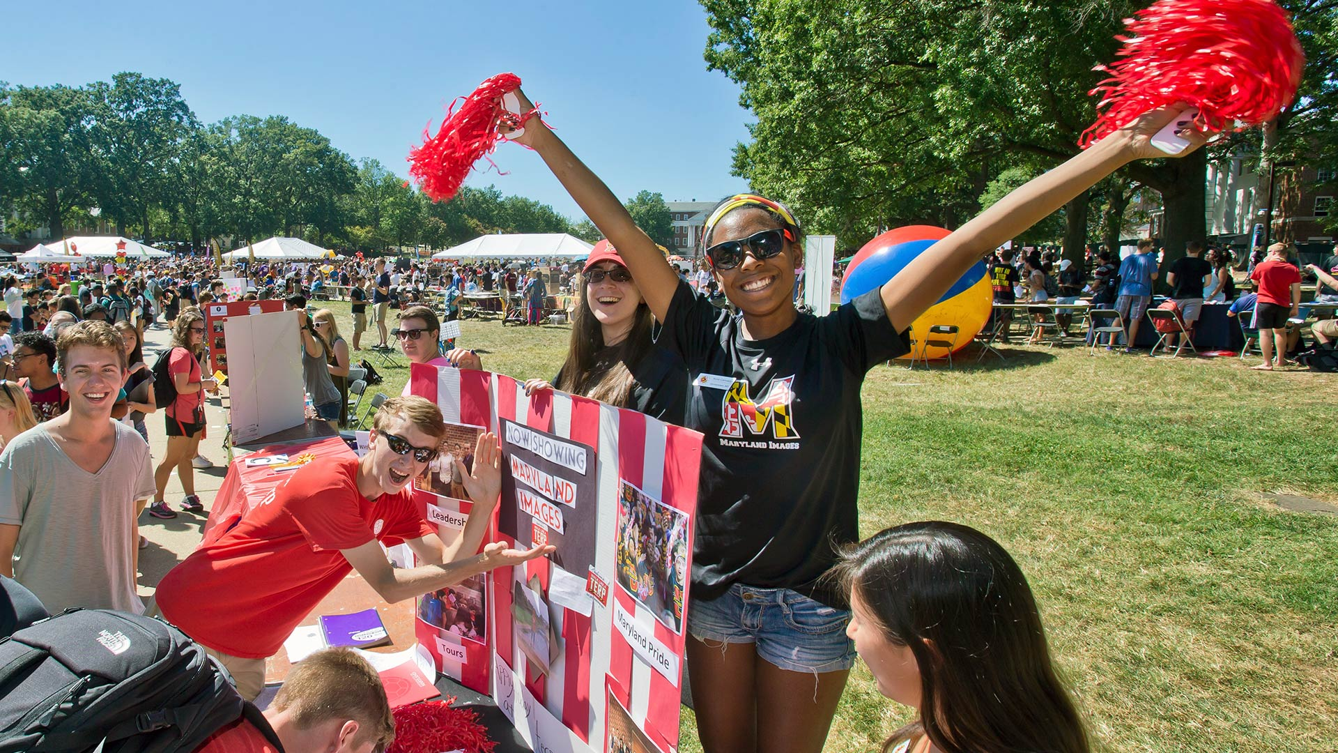 Students at First Look Fair
