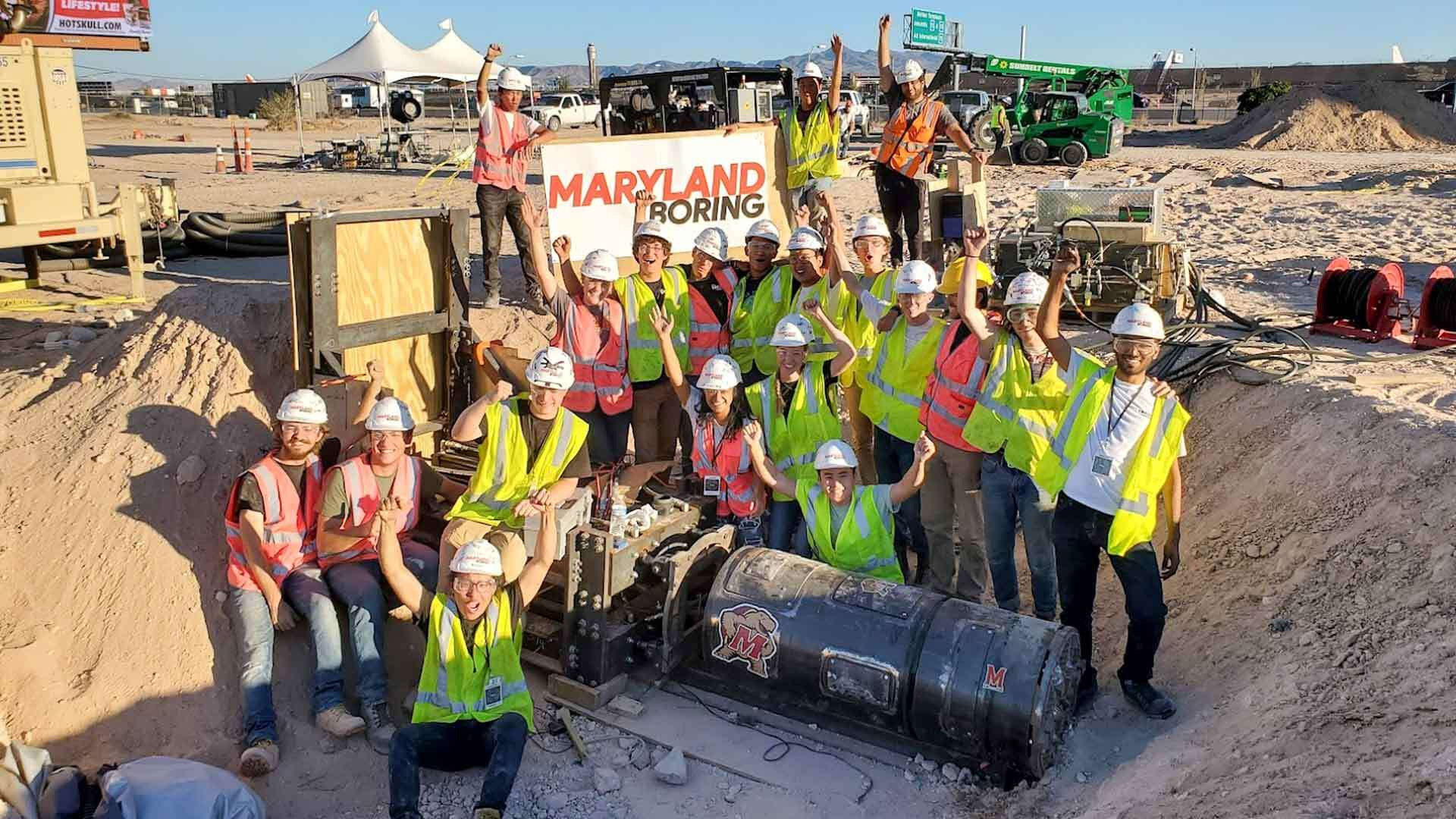 UMD Team Wins Safety Award in the Boring Company's International Student Competition